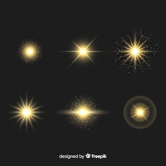 Коллекция реалистичных вспышек света