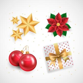 Коллекция реалистичных рождественских элементов
