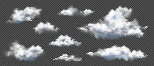 현실적인 다른 구름의 컬렉션