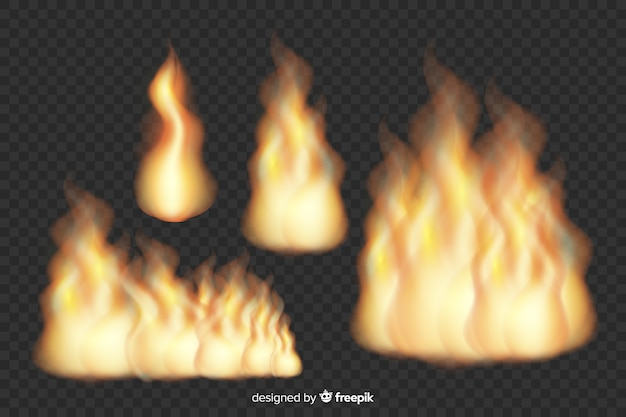 現実的な火炎のコレクション