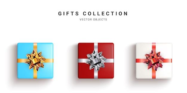 현실적인 선물 상자, 장식 선물 절연의 컬렉션입니다.