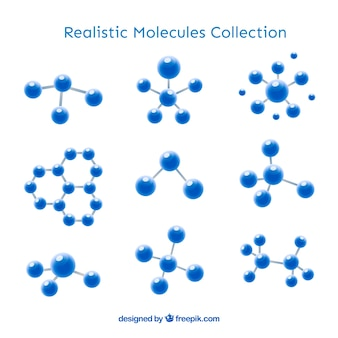 Сбор реалистичной молекулы Бесплатные векторы