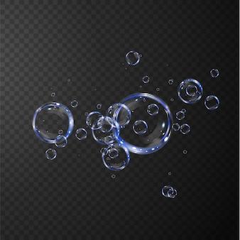 Коллекция реалистичных мыльных пузырей.