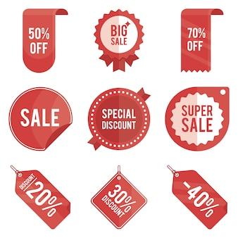빨간 판매 lable의 컬렉션