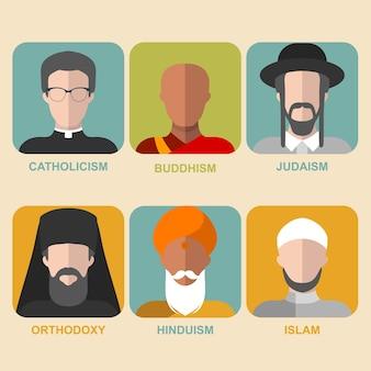 宗教的なキャラクターのコレクション