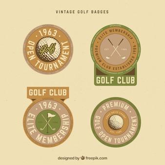 복고풍 골프 레이블 컬렉션