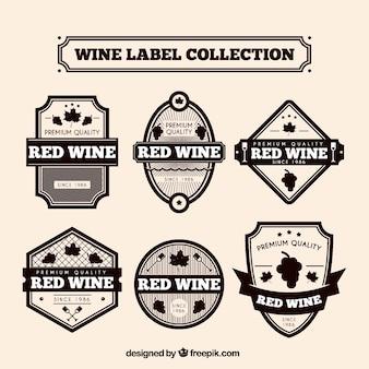 레트로 와인 스티커 컬렉션