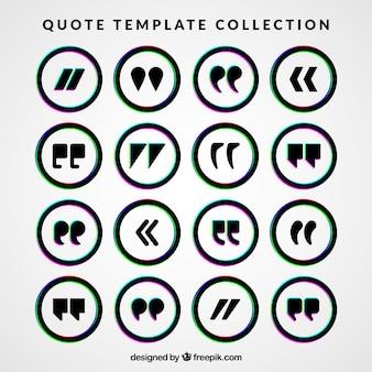 Коллекция закругленным шаблона цитатой