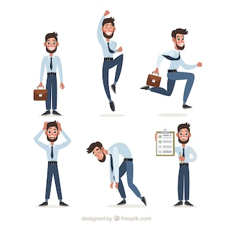 Collection of salesman in different positions