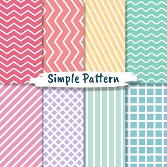 パステルカラーのシームレスな幾何学的なミニマルなパターンのコレクション