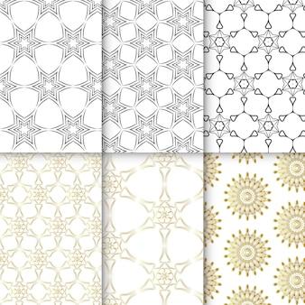 シームレスな装飾パターンのコレクション。