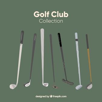 7 개의 골프 클럽 컬렉션
