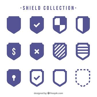 Коллекция щитов в плоском дизайне
