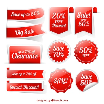 Collection of shiny discount stickers