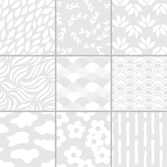 간단한 패턴 벡터 일러스트 레이 션의 컬렉션