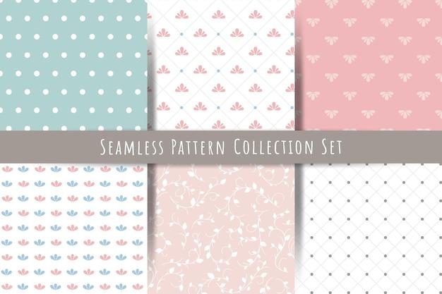 간단한 원활한 벡터 패턴의 컬렉션