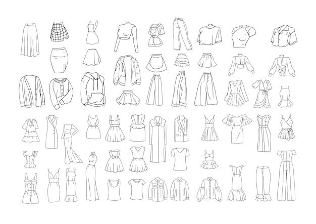 Коллекция эскизов женской одежды