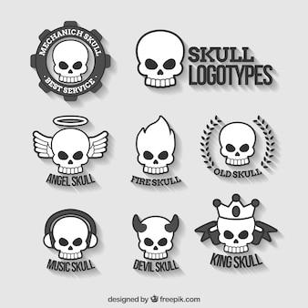頭蓋骨のロゴのコレクション