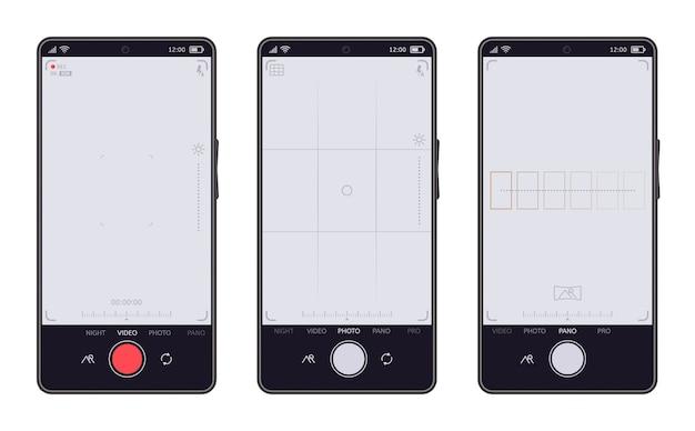 Коллекция интерфейса камеры смартфона