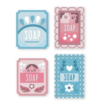 Коллекция шаблона этикетки мыла