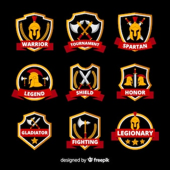 Collection of spartan labels