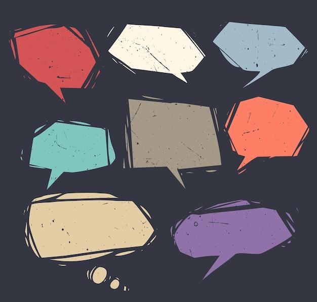 Коллекция речевых пузырей и диалоговых шаров