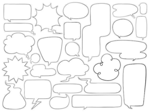 Коллекция речевых пузырьков
