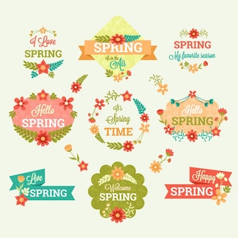 Collection of spring badges