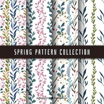 수채화의 봄 패턴 모음