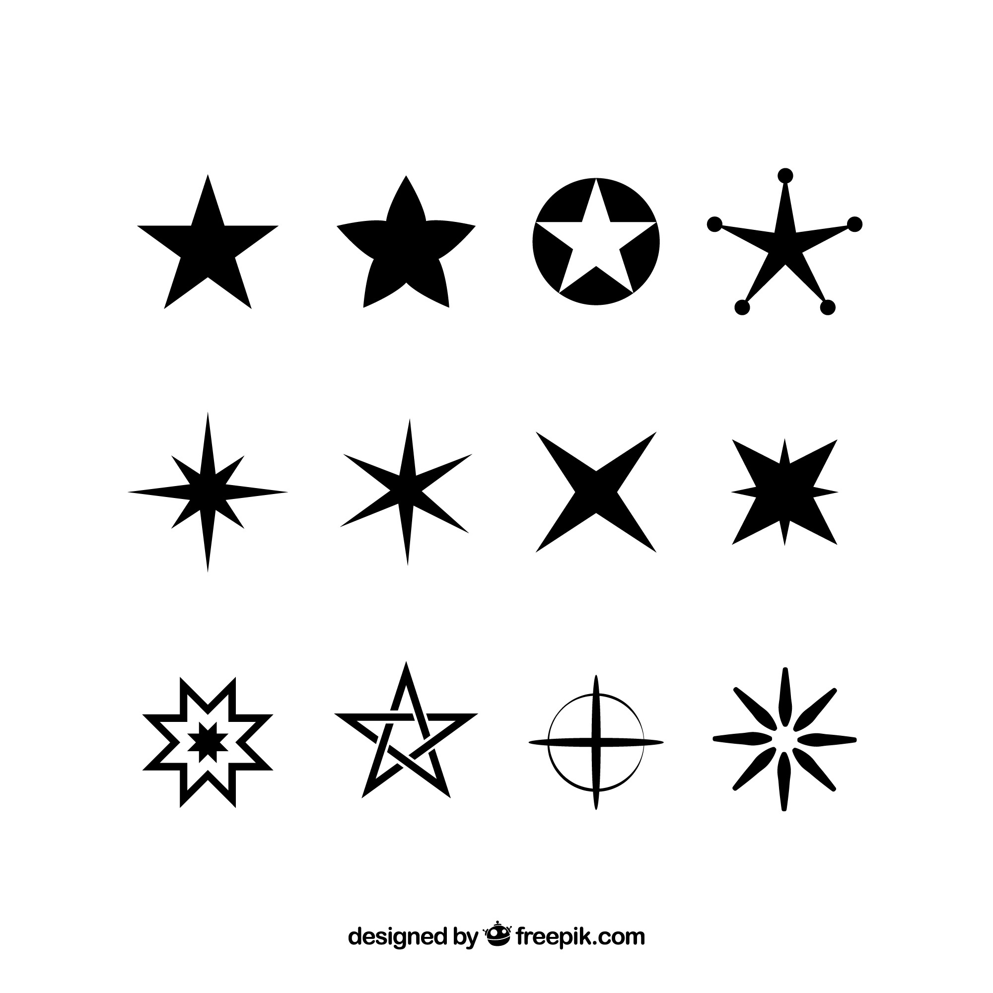 Collection of star of different type