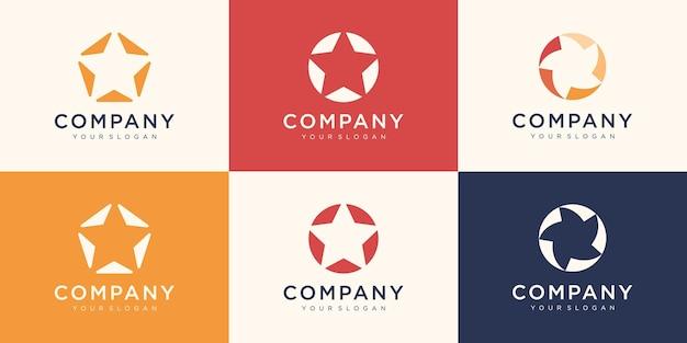 Коллекция дизайна логотипа звезд. использовать логотип для association, alliance, unity, team work