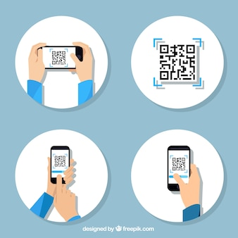 Qr code vectors photos and psd files free download collection of steps to use a qr code reheart Gallery