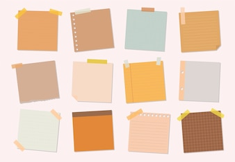 Collection of sticky note illustrations
