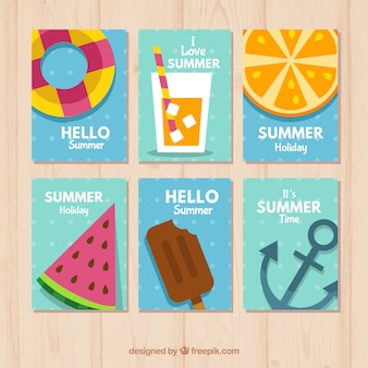 Коллекция летних карточек
