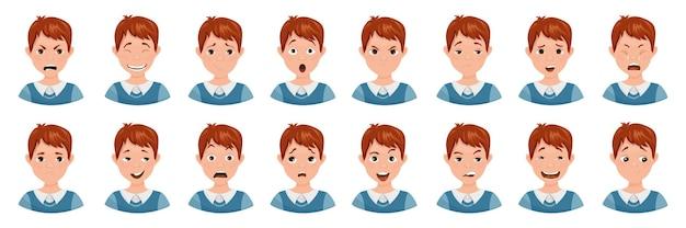 Коллекция аватарок подростков с разными эмоциями