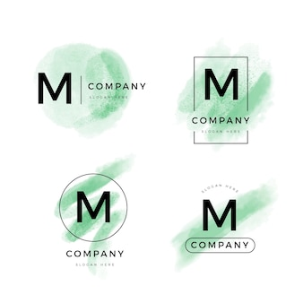 M個のロゴが付いたテンプレートのコレクション
