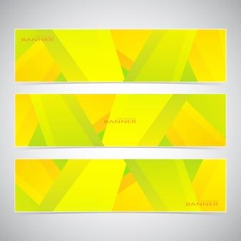 Коллекция из 3 красочных веб-баннеров. может использоваться для вашего дизайна. векторная иллюстрация