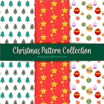 Collection of three christmas pattern