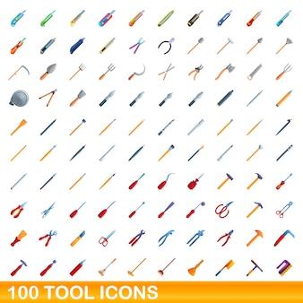 Коллекция значков инструментов, изолированных на белом