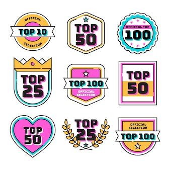 トップ10ラベルのコレクション