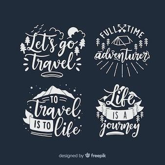여행 글자 배지 컬렉션