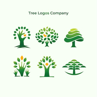 Treesロゴ会社のコレクション
