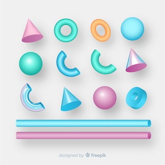Коллекция трехмерных геометрических фигур
