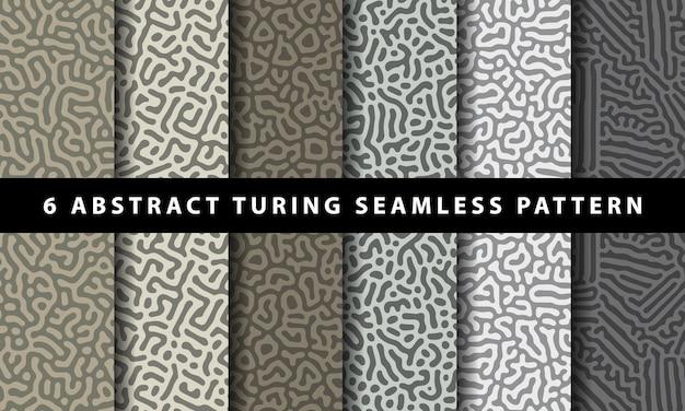 Коллекция абстрактных бесшовные модели тьюринга. премиум векторы