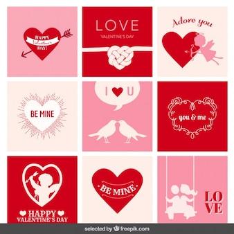 バレンタインカードのコレクション