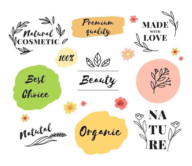 Коллекция различных косметических логотипов