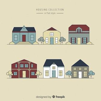 다양한 주택의 수집