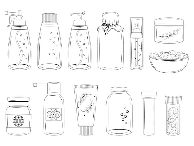 さまざまな薬のコレクション。
