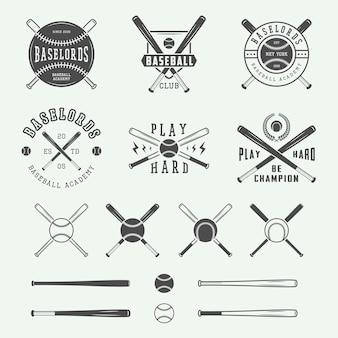 ヴィンテージ野球のロゴのコレクション