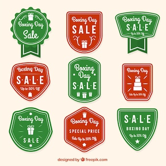 Collection of vintage boxing day badges